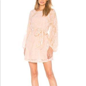 Yumi Kim Bellflower floral pink Velvet Dress L